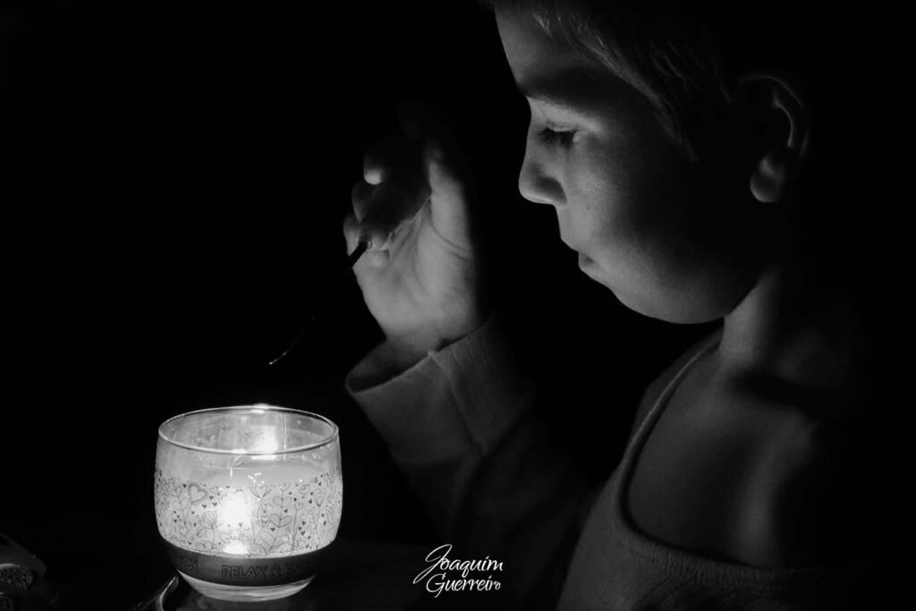 À luz da vela