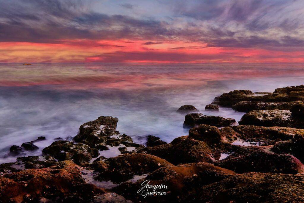 Longa esposição na Praia da Luz - Algarve